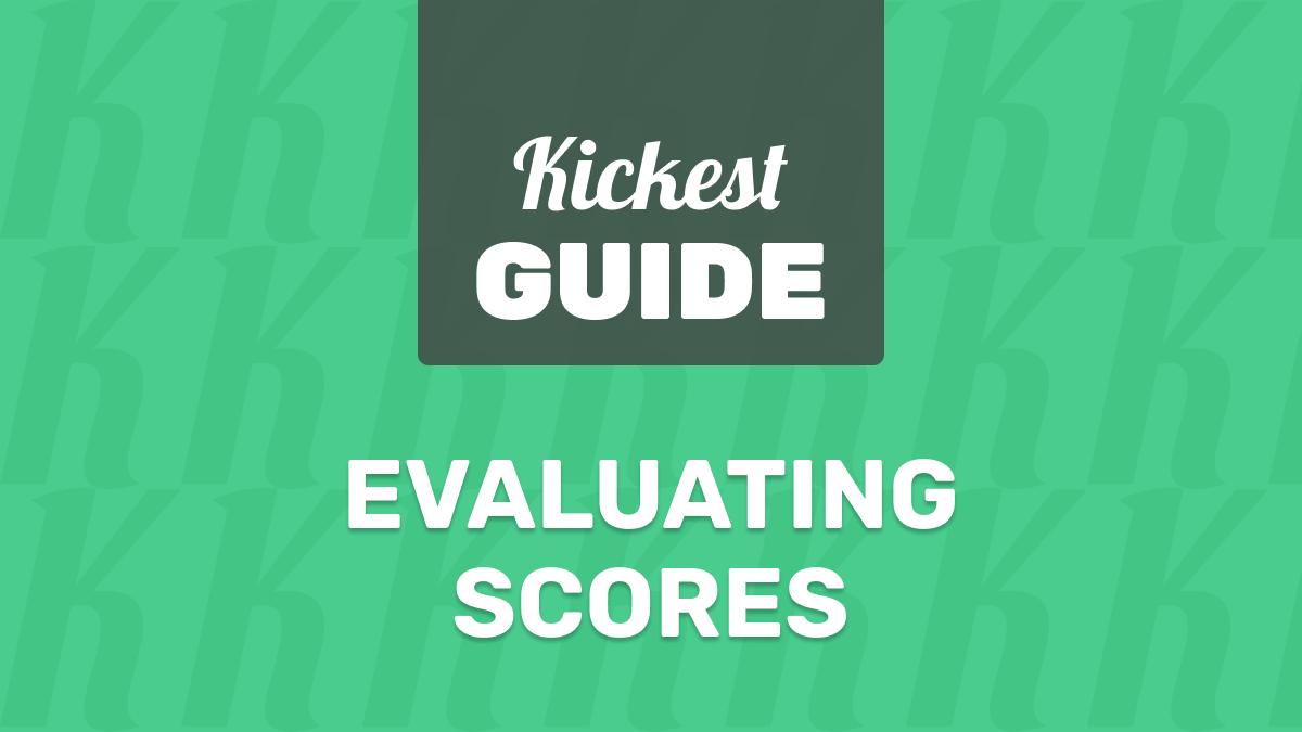 evaluating kickest scores
