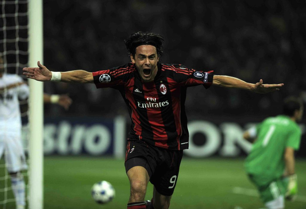 3 Novembre 2010, Filippo Inzaghi in Milan vs Real Madrid 2-2 (OLIVIER MORIN/AFP via Getty Images)