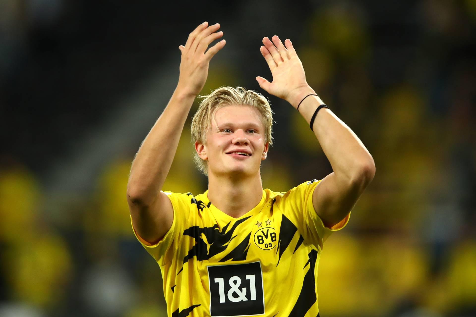 Erling Brut Haaland in maglia Borussia Dortmund
