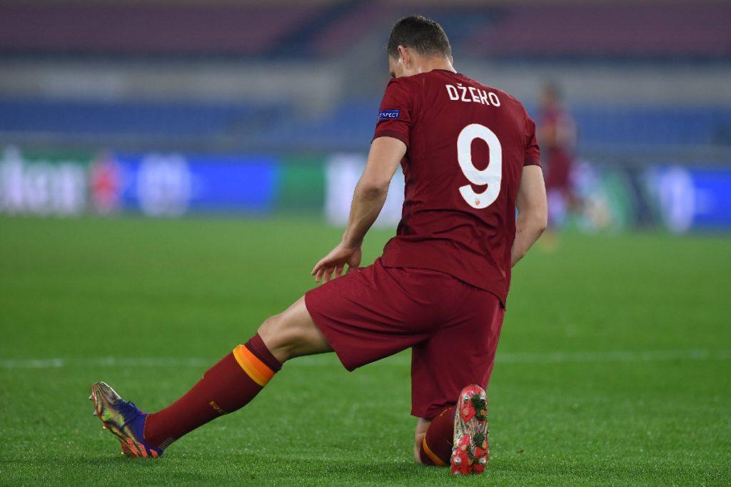 Edin Dzeko in maglia Roma