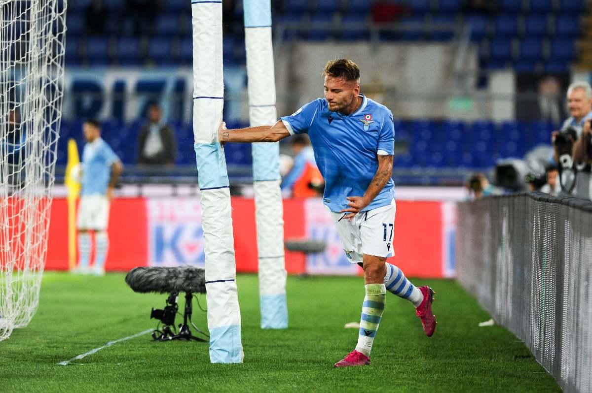 Ciro Immobile in maglia Lazio