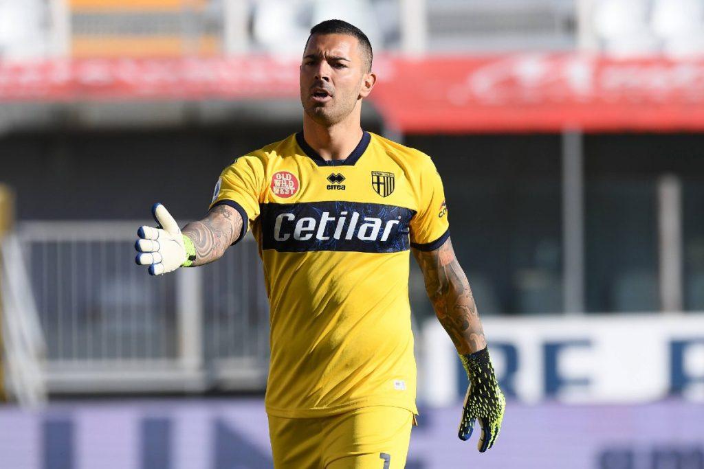 Luigi Sepe in maglia Parma