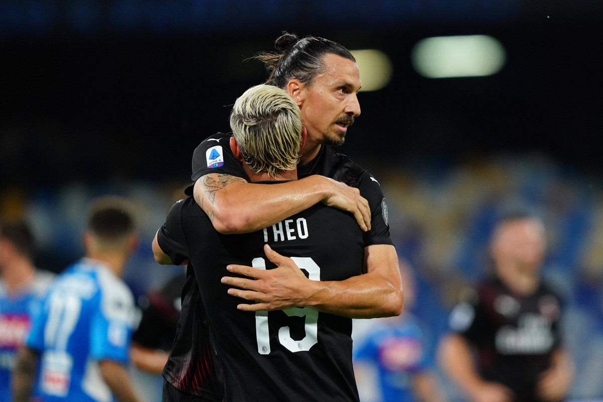 Zlatan Ibrahimovic e Theo Hernandez