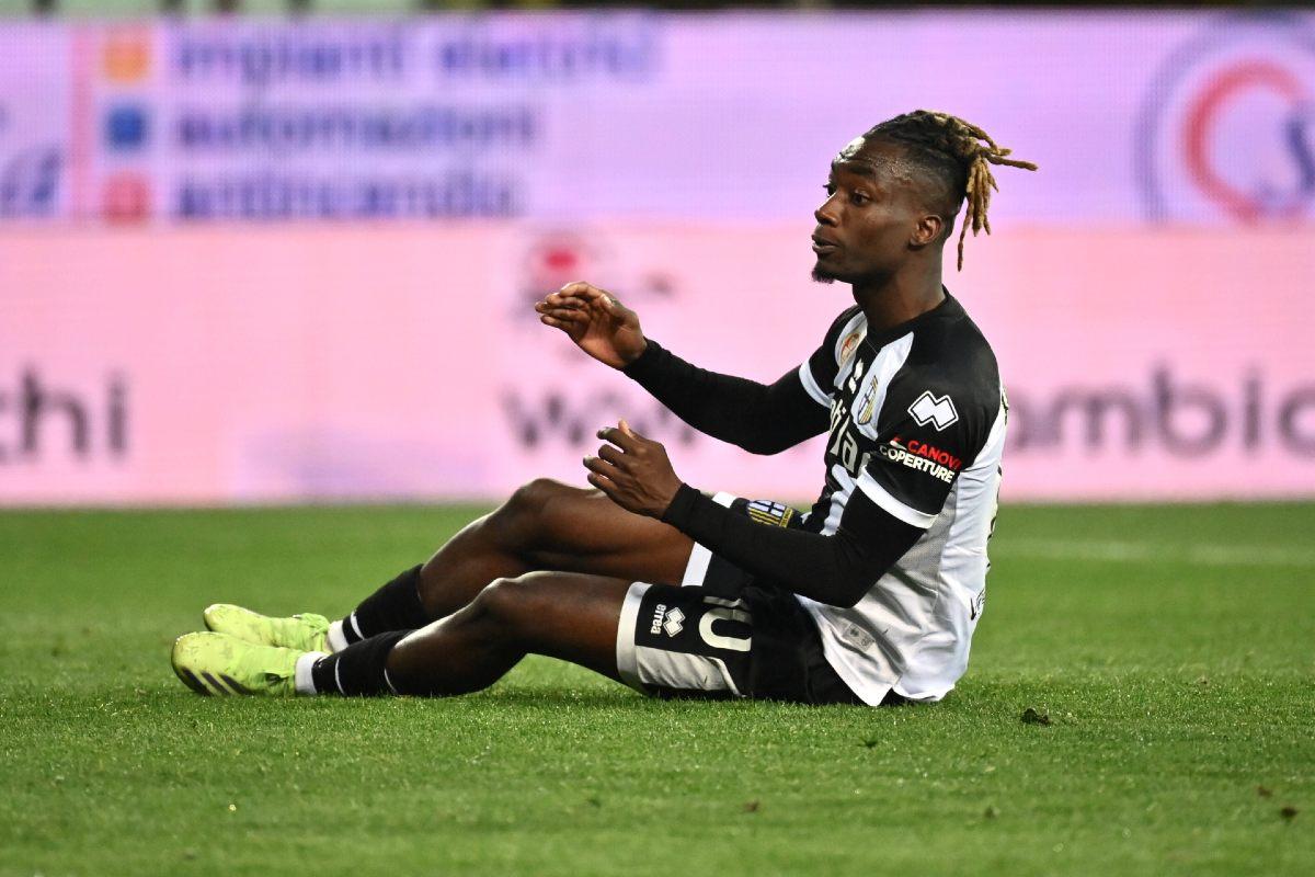 Yann Karamoh in maglia Parma