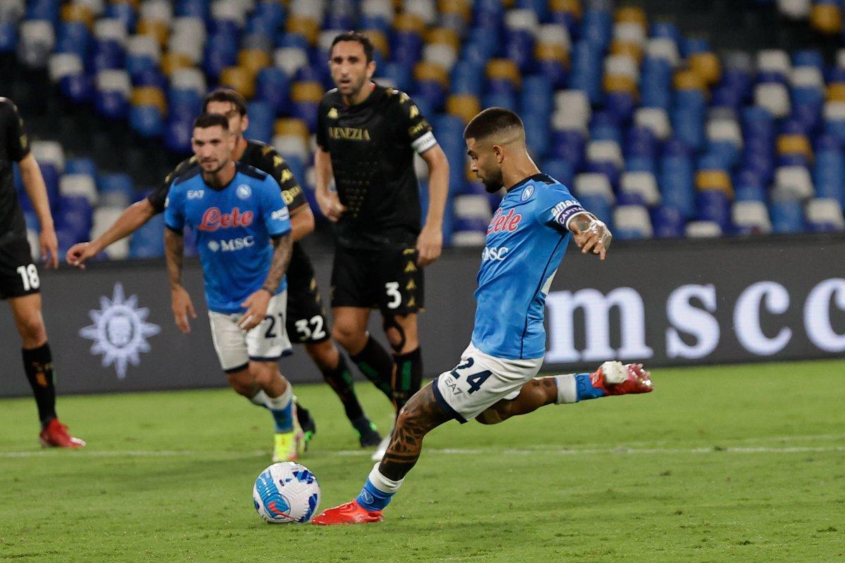 Lorenzo Insigne, rigorista Napoli 2021/22