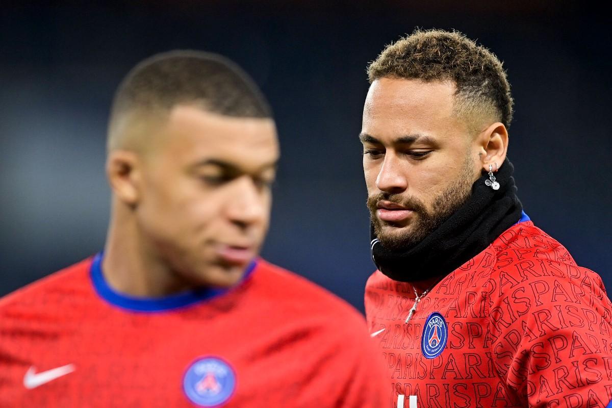Neymar e Mbappe in maglia PSG