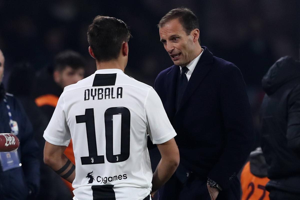 Dybala con Allegri, Juventus
