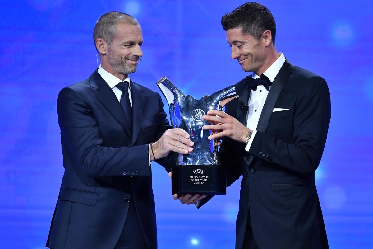 Lewandowski UEFA Men's Player of the Year 2020/21