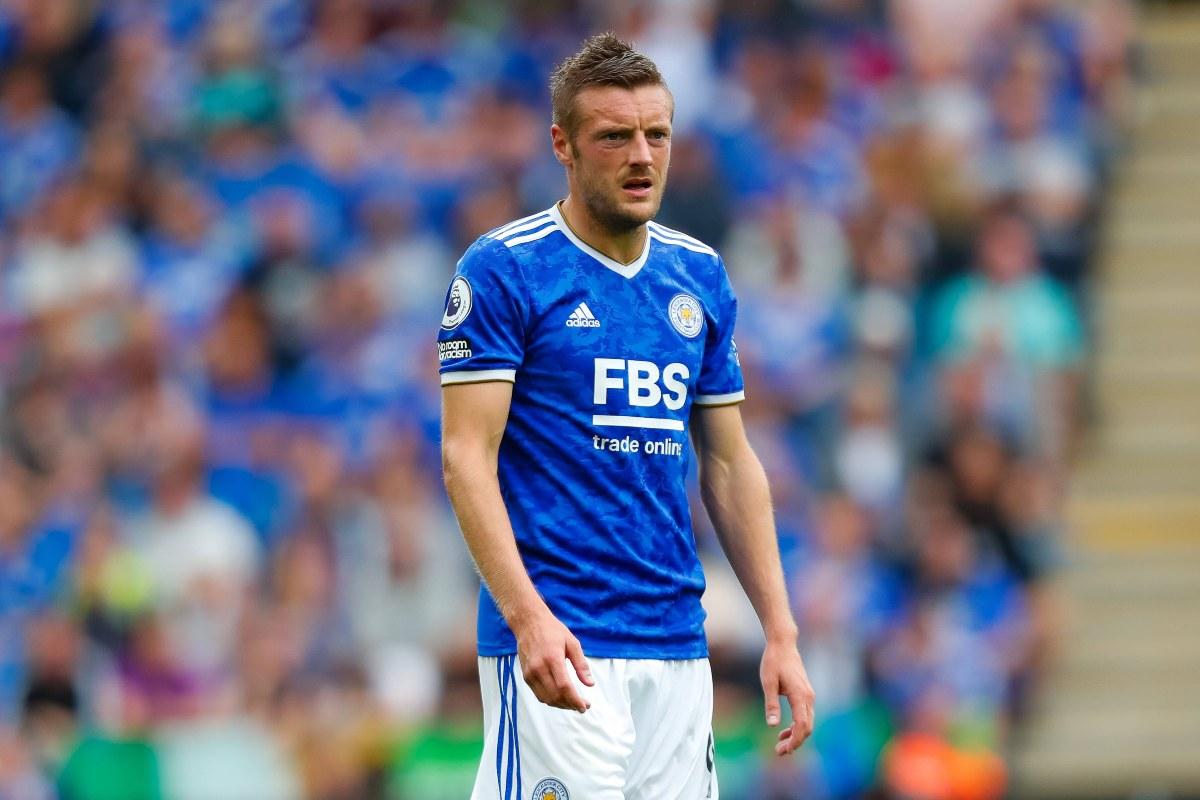 Jamie Vardy con la maglia del Leicester