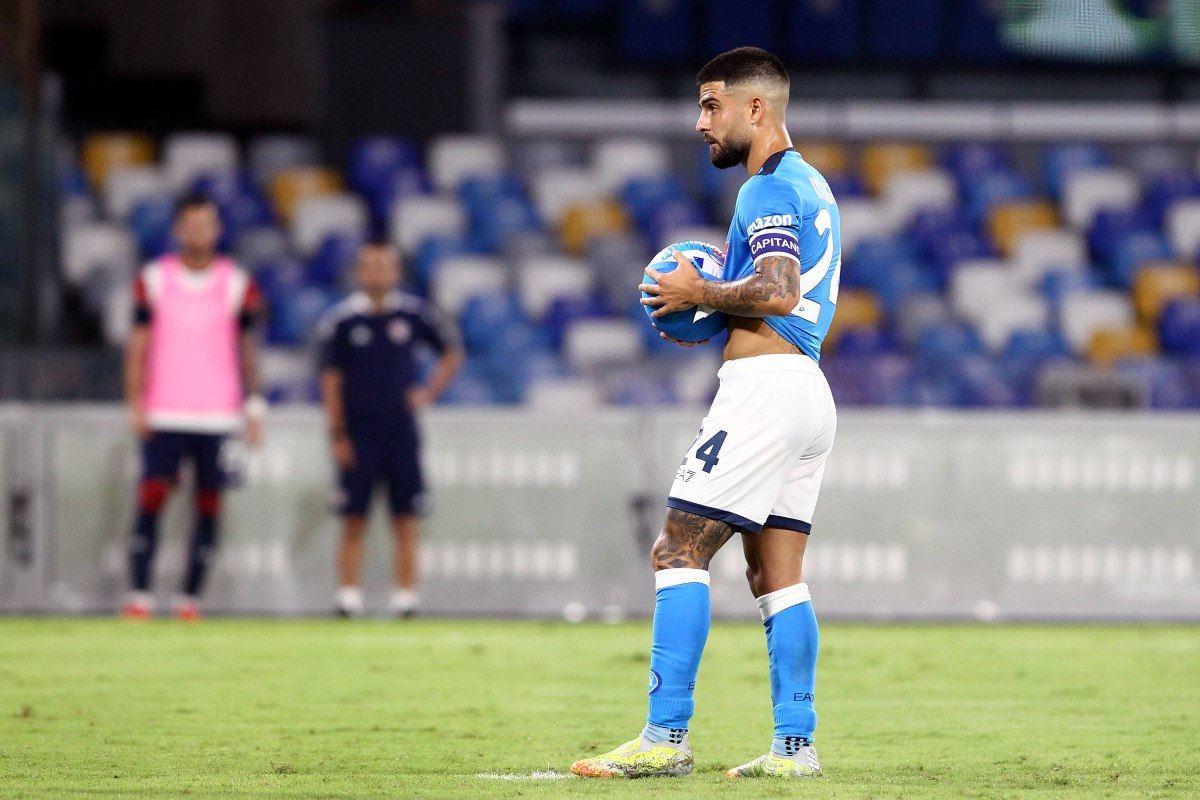 Lorenzo Insigne in maglia Napoli