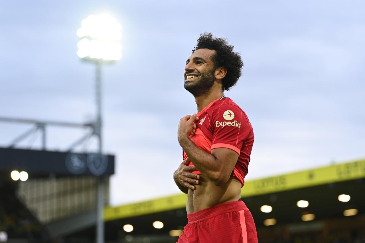 Mohamed Salah in maglia Liverpool